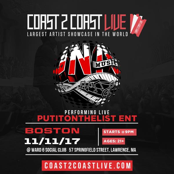 Putitonthelist ent | Artists | Coast 2 Coast LIVE | Largest