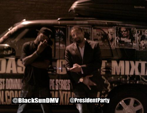 Black Sun & JD in front of C2C Van